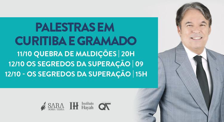 Bispo Rodovalho ministra palestras em Curitiba e Gramado